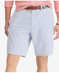 "Polo Ralph Lauren - Seersucker Stretch Classic Fit 9-1/4"" Shorts - Lyst"