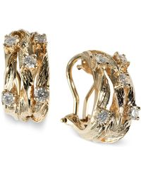 Effy Collection - Diamond Vine Earrings (5/8 Ct. T.w.) In 14k Gold - Lyst