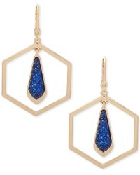 Ivanka Trump - Gold-tone Octagon And Stone Orbital Drop Earrings - Lyst