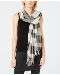 Eileen Fisher - Wool Plaid Scarf, Created For Macy's - Lyst