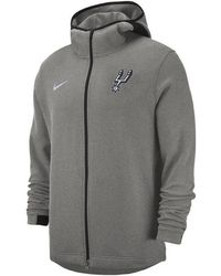 b29a922c52d0 Lyst - Adidas Men s San Antonio Spurs Quick Draw Hoodie in Gray for Men
