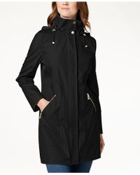 Ivanka Trump - Hooded Solid Raincoat - Lyst