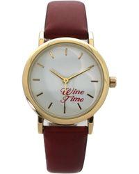 Olivia Pratt - Wine Time Leather Strap Watch - Lyst
