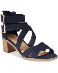 Material Girl - Danee Block Heel City Sandals, Created For Macy's - Lyst