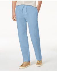INC International Concepts - Linen Drawstring Pants, Created For Macy's - Lyst