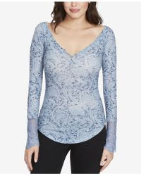 William Rast - Clementine Textured Lace-cuff T-shirt - Lyst