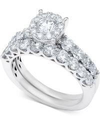 Macy's - Diamond Bridal Ring Set In 14k White Gold (2 Ct. T.w.) - Lyst