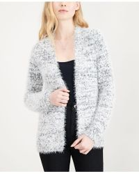 Maison Jules - Fuzzy Open-front Cardigan, Created For Macy's - Lyst