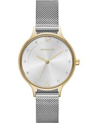 Skagen - Women's Anita Stainless Steel Mesh Bracelet Watch 30mm Skw2340 - Lyst
