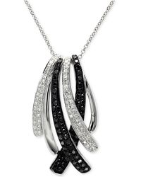Effy Collection - Diamond Pendant Necklace (3/4 Ct. T.w.) In 14k White Gold - Lyst