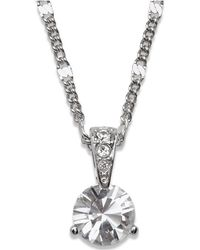 Swarovski - Necklace, Solitaire Crystal Pendant - Lyst