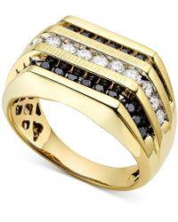Macy's - Men's White And Black Diamond (1 Ct. T.w.) Ring - Lyst