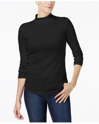 Charter Club - Cotton Mock-neck Top - Lyst