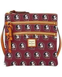Dooney & Bourke | Florida State Seminoles Triple-zip Crossbody Bag | Lyst