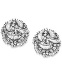 Effy Collection - Classique By Effy Diamond Swirl Earrings (1-1/2 Ct. T.w.) In 14k White Gold - Lyst