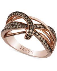 Le Vian - Gladiator Weavetm Diamond Ring (5/8 Ct. T.w.) In 14k Rose Gold - Lyst