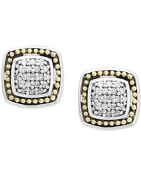 Effy Collection - Balissima By Effy® Diamond Cluster Stud Earrings (1/6 Ct. T.w.) In Sterling Silver & 18k Gold - Lyst