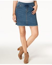 Style & Co. - Pull-on Frayed-hem Skort, Created For Macy's - Lyst