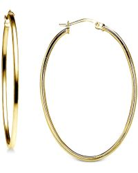"""Giani Bernini - Small Polished Tube Oval Hoop Earrings In Sterling Silver, 1"""", Created For Macy's - Lyst"""