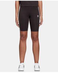adidas - Triple Stripe Bike Shorts - Lyst