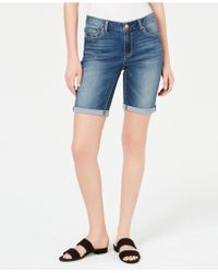 Vintage America - Petite Boho Bermuda Shorts - Lyst