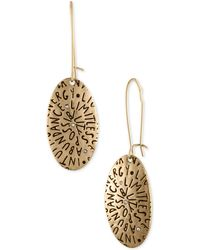 RACHEL Rachel Roy - Gold-tone Etched Inspiration Drop Earrings - Lyst