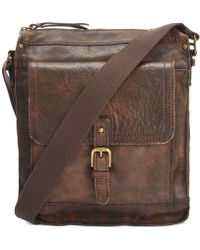 Patricia Nash - Men's Tuscan Leather North South Crossbody - Lyst