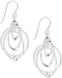 Giani Bernini - Multi-circle Bead Drop Earrings In Sterling Silver - Lyst