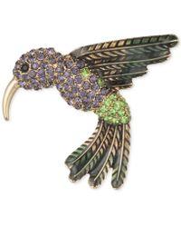 Anne Klein - Gold-tone Multi-crystal Humming Bird Pin - Lyst