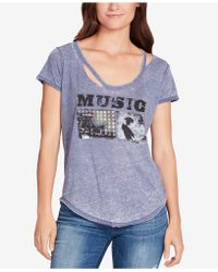 William Rast - Ripped Music Graphic T-shirt - Lyst