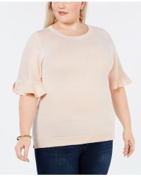 Joseph A - Plus Size Ruffled-sleeve Top - Lyst