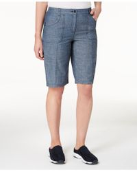 Karen Scott - Mid-rise Cotton Shorts, Created For Macy's - Lyst