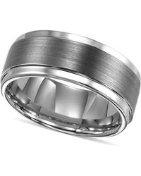Triton - Ring, Tungsten Carbide Comfort Fit Wedding Band 9mm Band - Lyst