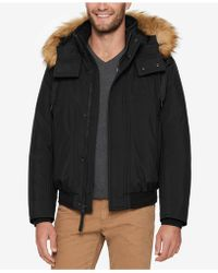Marc New York - Men's Bomber Jacket With Fleece Inset And Faux-fur Hood - Lyst