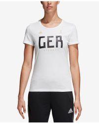 adidas - Cotton Germany Soccer T-shirt - Lyst
