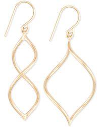 Macy's - Twisted Wire Drop Earrings In 10k Gold - Lyst