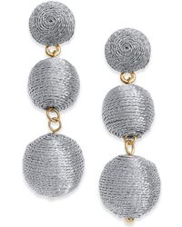 INC International Concepts | Gold-tone Threaded Ball Drop Earrings | Lyst