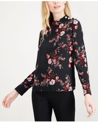 Maison Jules - Embellished Floral-print Blouse, Created For Macy's - Lyst
