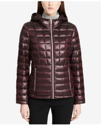 Calvin Klein | Packable Down Puffer Coat | Lyst