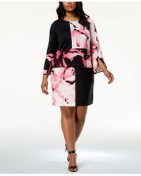 Alfani - Plus Size Colorblocked Dress, Created For Macy's - Lyst
