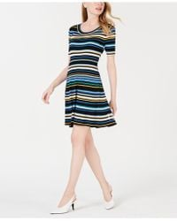 Maison Jules - Striped A-line Sweater Dress, Created For Macy's - Lyst