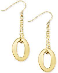Macy's - Oval Chain Drop Earrings In 10k Gold - Lyst
