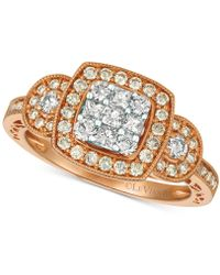 Le Vian - ® Nudetm Diamond Cluster Ring (3/4 Ct. T.w.) In 14k Gold & White Gold - Lyst