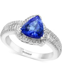 Effy Collection - Tanzanite Royalé By Effy® Tanzanite (1-1/2 Ct. T.w.) & Diamond (1/2 Ct. T.w.) Ring In 14k White Gold - Lyst