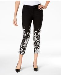 Alfani - Printed Ankle Skinny Pants, Created For Macy's - Lyst