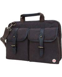"""Token Waxed Knickerbocker 15"""" Laptop Bag - Black"""