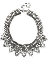 INC International Concepts | Hematite-tone Stone And Pavé Statement Necklace | Lyst