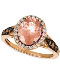 Le Vian - Chocolatier® Peach Morganitetm (1-3/4 Ct. T.w.) & Diamond (3/8 Ct. T.w.) Ring In 14k Rose Gold - Lyst