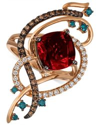 Le Vian - Exotics® Crazy Collection® Pomegranate Garnettm (4-1/2 Ct. T.w.) & Diamond (5/8 Ct. T.w.) Statement Ring In 14k Rose Gold - Lyst