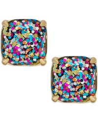 Kate Spade - Gold-tone Small Square Stud Earrings - Lyst
